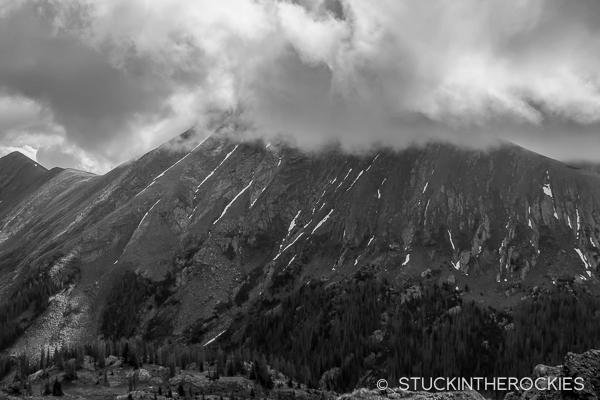 Rito Alto Peak from Rito Alto Lake
