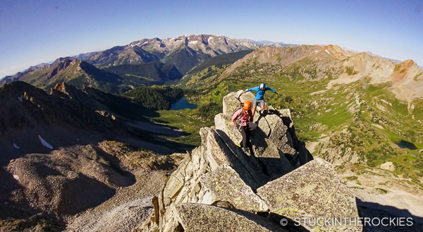 Climbing the S Ridge on Snowmass Mountain