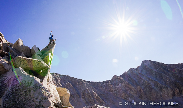 Chris Davenport on the S Ridge of Snowmass Mountain