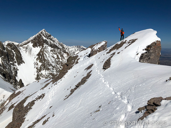 Ted Mahon on the summit of Cirque Mountain.