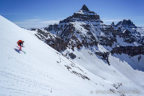 Christy Mahon skiing Cirque Mountain