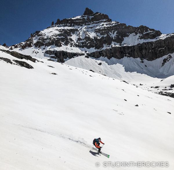 Corn skiing on Cirque Mountain