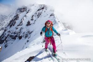 On the summit ridge of Len Shoemaker Peak
