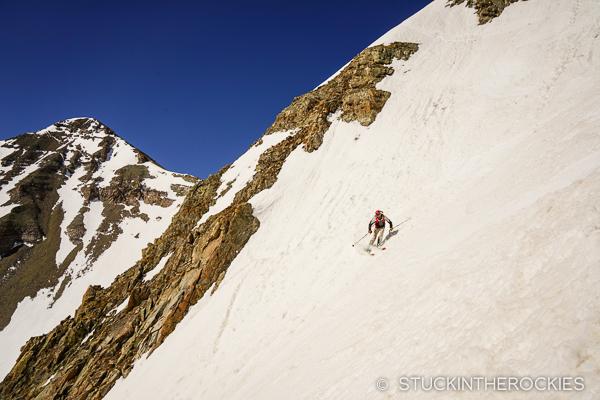 Dirk Bockelmann skiing Conundrum Peak