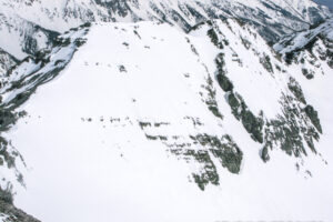 The east face of Conundrum Peak.