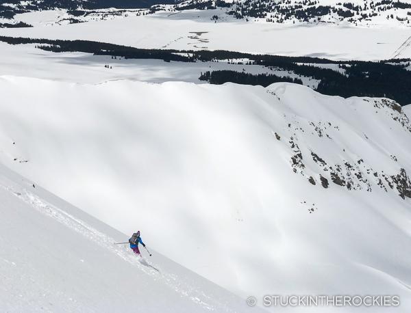 Christy Mahon skis the Northwest Face of Drift Peak