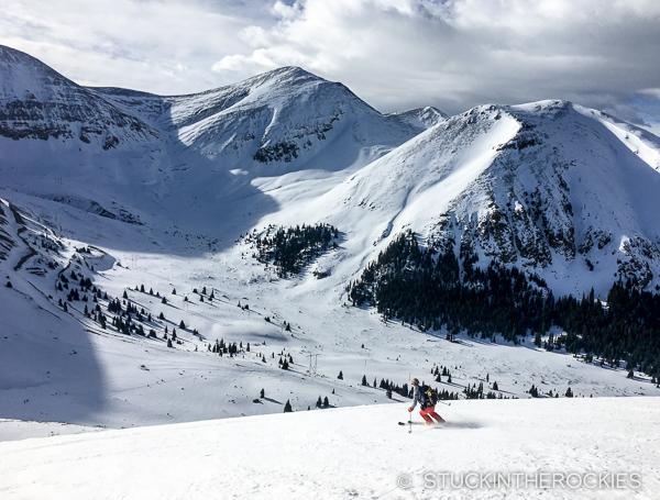 Christy skis East Ball Mountain near Dyer Mountain
