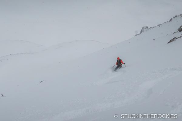 Skiing Electric Peak