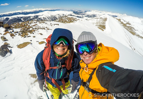 Ted and Christy Mahon on Mosquito Peak
