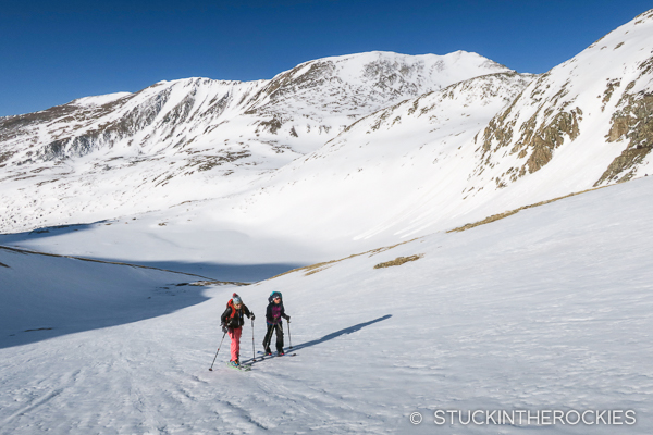 Skinning up to Mount Democrat