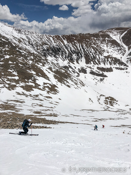 Rebecca Weiss skis Mout Democrat