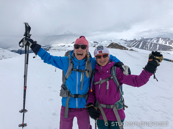 Christy and Elsie on the summit of Mount Sherman