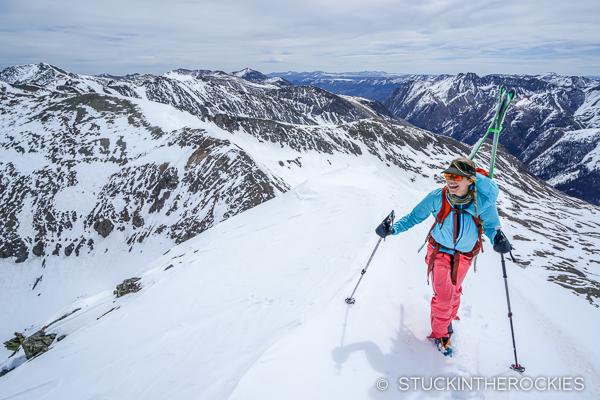 Christy Mahon nearing the summit of Niagara Peak