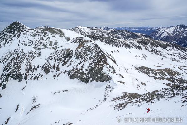 Christy Mahon skis the north face of Niagara Peak