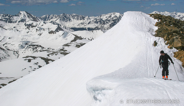 Tim Mutrie on the summit of Twining Peak