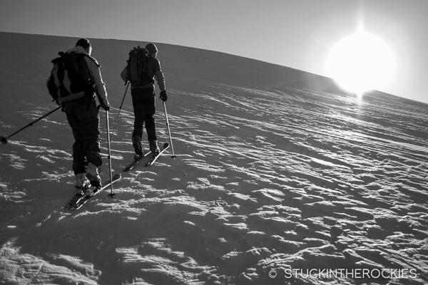 Lou and Louie Dawson ascend Twining Peak.