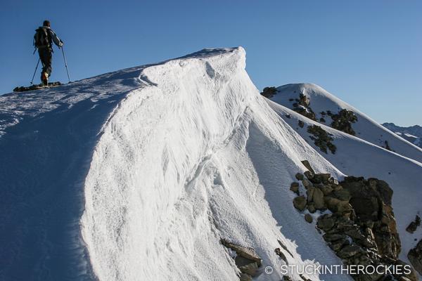 Nearing the false summit of Twining Peak