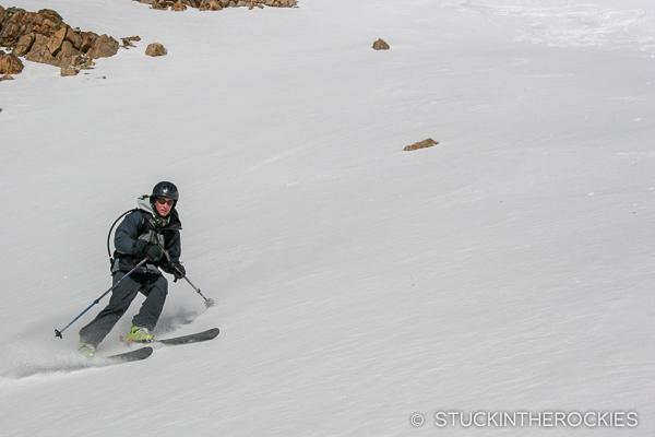 Skiing Twining peak