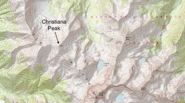 The map of Christiana Peak