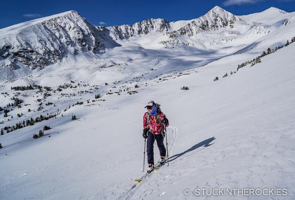 Christy Mahon ascends Peak 10