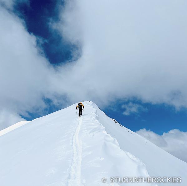Nearing the summit of Peak 10