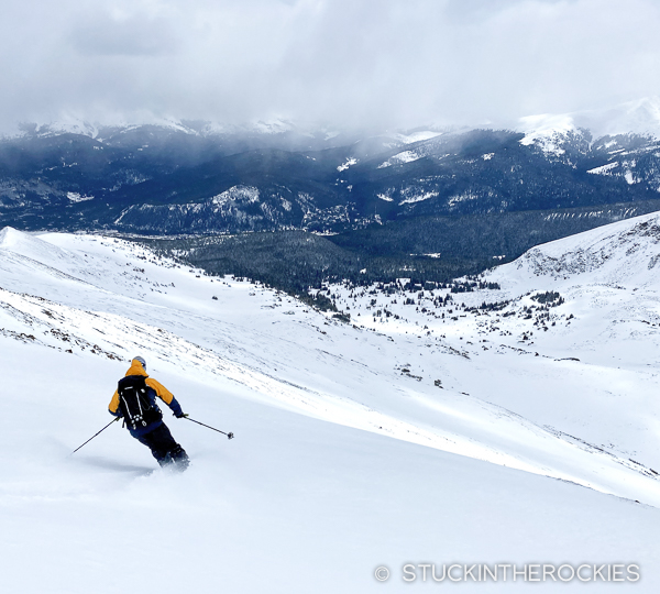 Ted skiing Peak 10