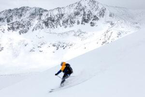 Ted Mahon skiing Peak 10 outside of Breckenridge