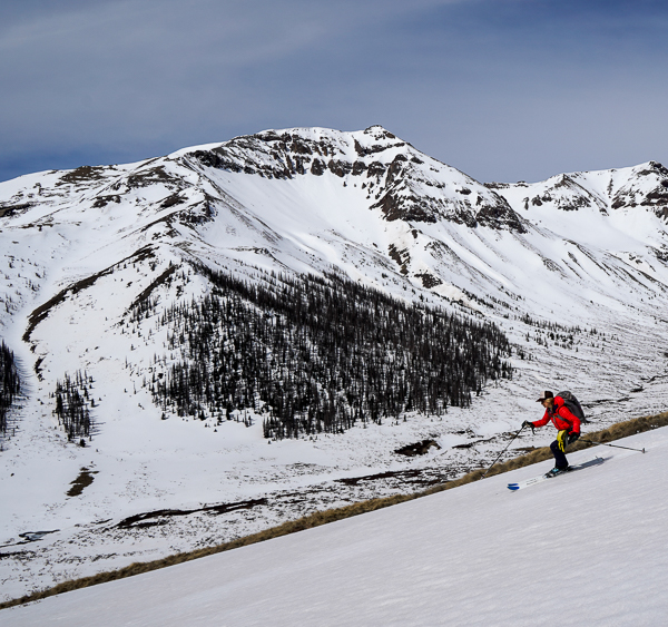 Christy Mahon skiing towards UN13581