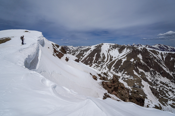 Nearing the summit of 13581