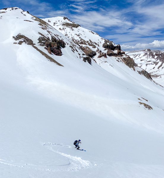 Skiing the west side of UN13581