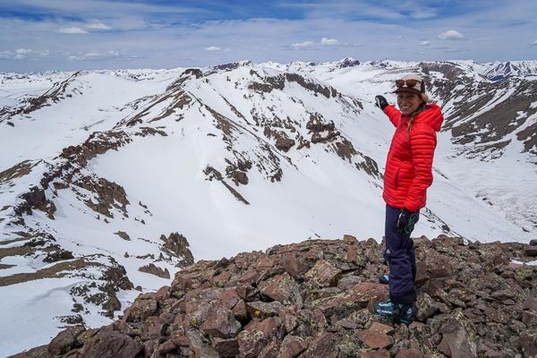 Christy Mahon on the summit of UN13581