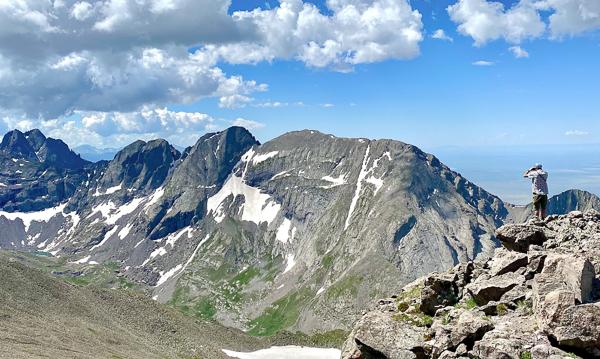 Ted Mahon on the summit of Mount Adams