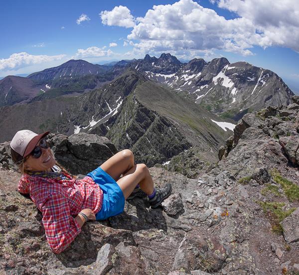 Christy Mahon on the summit of Mount Adams