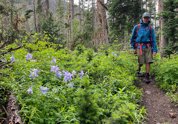 Ted Mahon hiking the Horn Creek Trail