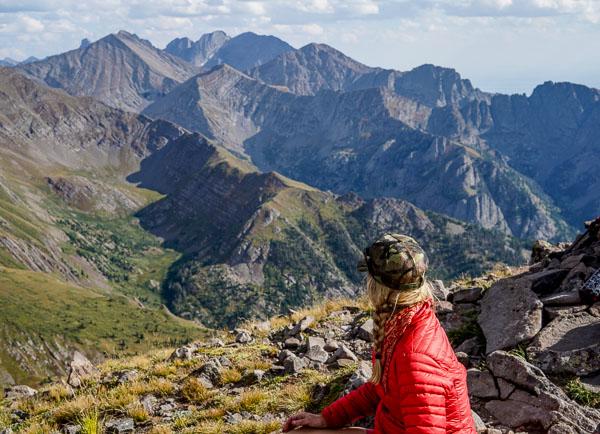 Christy Mahon on Venable Peak
